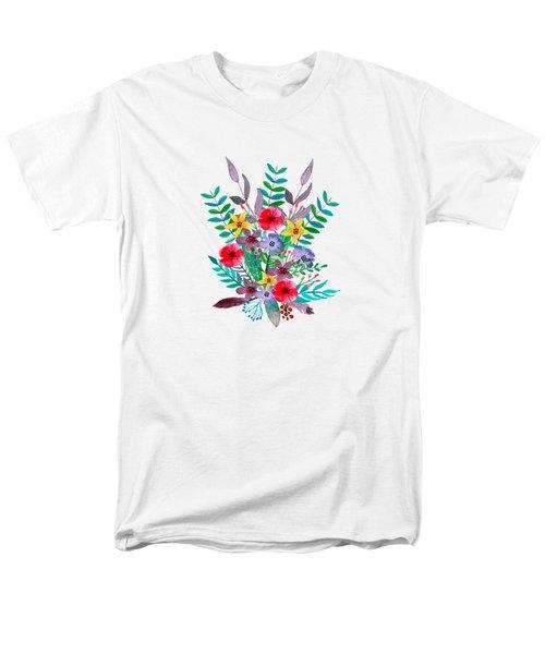 Floral Bouquet Men's T-Shirt  (Regular Fit)