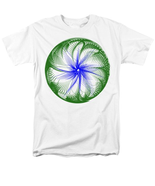 Floral Web - Green Blue By Kaye Menner Men's T-Shirt  (Regular Fit) by Kaye Menner