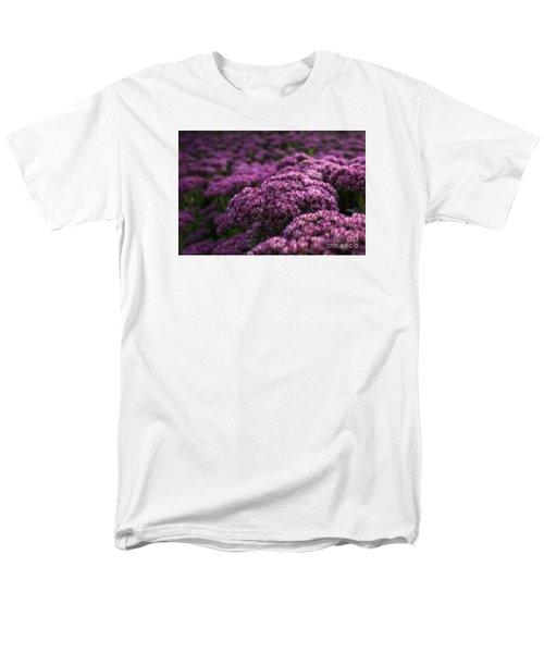 Men's T-Shirt  (Regular Fit) featuring the photograph Sedum Flower Detail by Inge Riis McDonald
