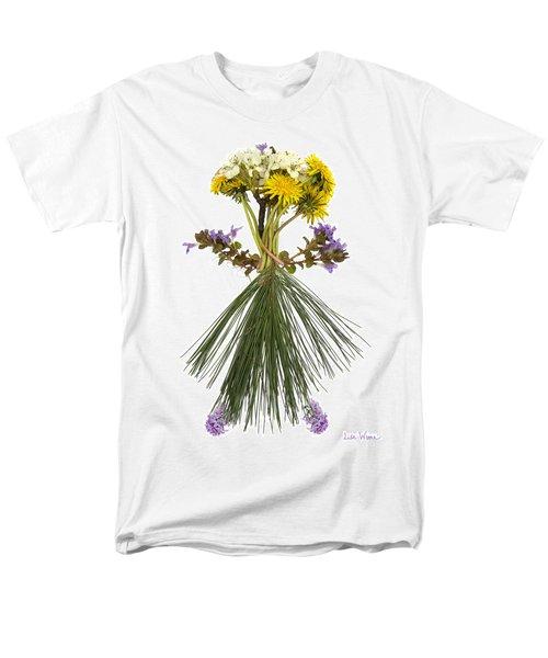 Men's T-Shirt  (Regular Fit) featuring the digital art Flower Head by Lise Winne