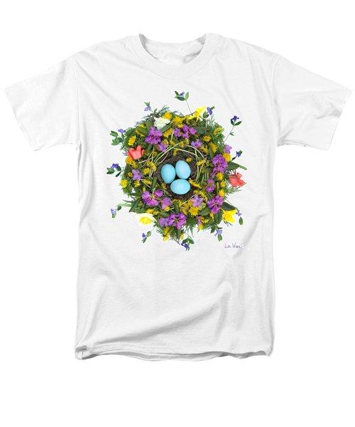 Men's T-Shirt  (Regular Fit) featuring the digital art Flower Nest by Lise Winne