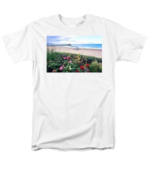 Flowers Of Manhattan Beach Men's T-Shirt  (Regular Fit) by Art Block Collections