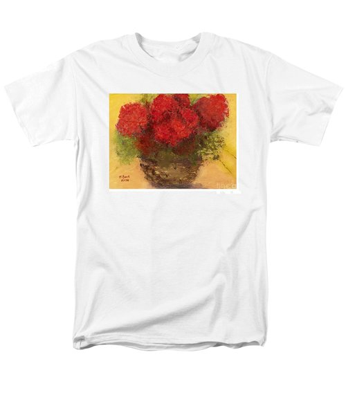 Men's T-Shirt  (Regular Fit) featuring the mixed media Flowers Red by Marlene Book
