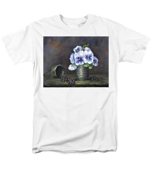 Men's T-Shirt  (Regular Fit) featuring the painting Flowers,pansies Still Life by Luczay