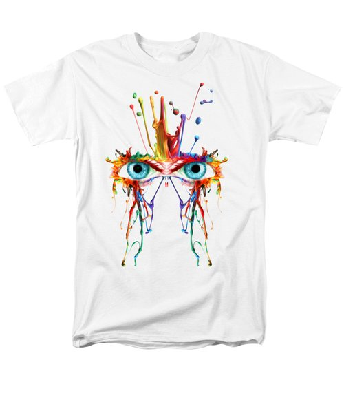 Men's T-Shirt  (Regular Fit) featuring the photograph Fluid Abstract Eyes by Robert G Kernodle