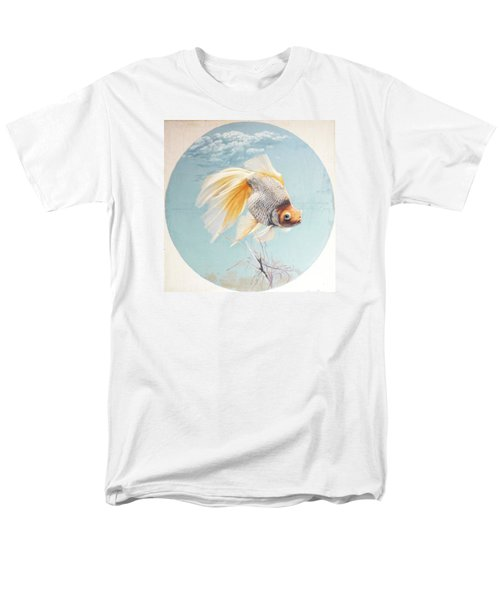 Flying In The Clouds Of Goldfish Men's T-Shirt  (Regular Fit) by Chen Baoyi