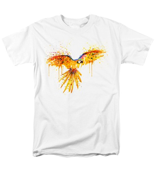 Flying Parrot Watercolor Men's T-Shirt  (Regular Fit) by Marian Voicu