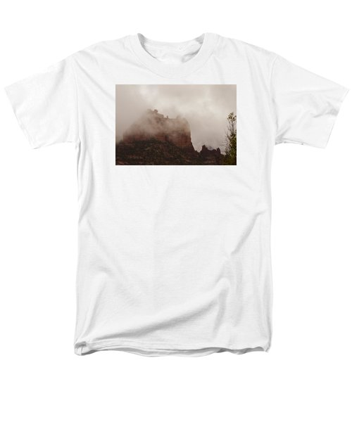 Men's T-Shirt  (Regular Fit) featuring the photograph Fog Over Snoopy Rock by Tom Kelly