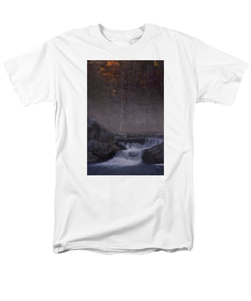 Men's T-Shirt  (Regular Fit) featuring the photograph Foggy Morning At Linville Falls by Ellen Heaverlo