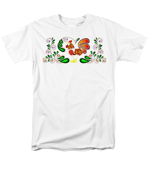 Folk Art Rooster Multi Color Men's T-Shirt  (Regular Fit) by Ruanna Sion Shadd a'Dann'l Yoder