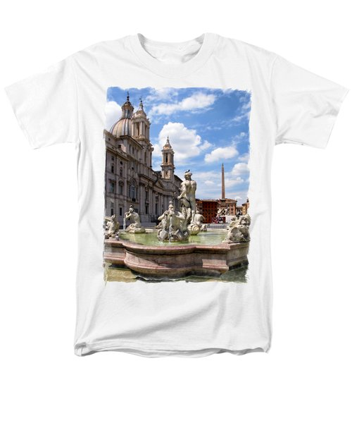 Fontana Del Moro.rome Men's T-Shirt  (Regular Fit) by Jennie Breeze
