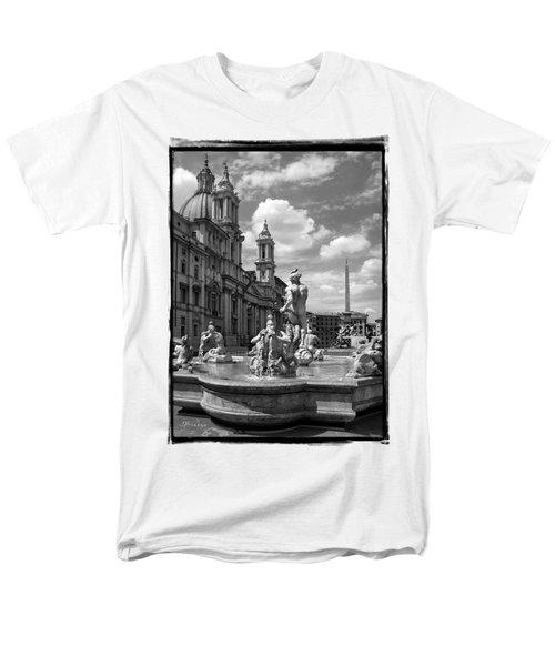 Fontana Del Moro.rome.italy Men's T-Shirt  (Regular Fit) by Jennie Breeze