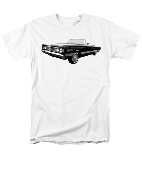 Men's T-Shirt  (Regular Fit) featuring the photograph Ford Mercury Park Lane 1966 Black And White by Gill Billington