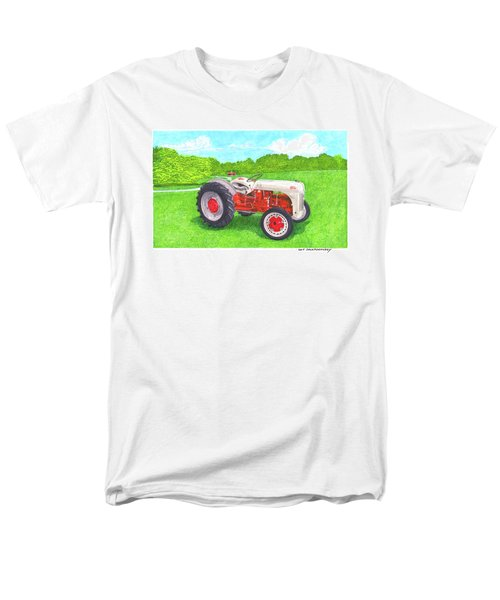 Men's T-Shirt  (Regular Fit) featuring the painting Ford Tractor 1941 by Jack Pumphrey
