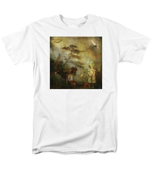 Forest Wonderland Men's T-Shirt  (Regular Fit) by Diana Boyd