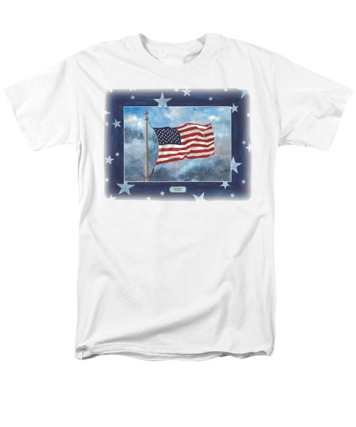 Forever Old Glory  Men's T-Shirt  (Regular Fit) by Herb Strobino