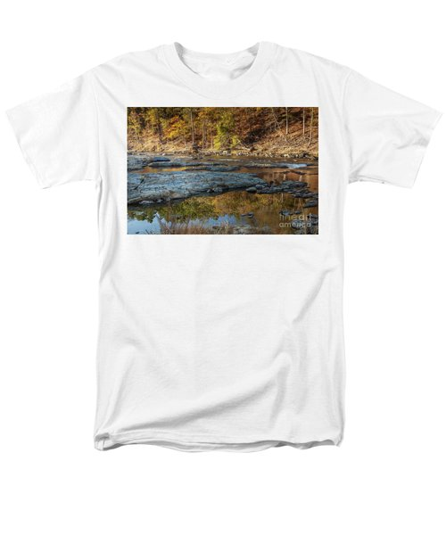 Men's T-Shirt  (Regular Fit) featuring the photograph Fork River Reflection In Fall by Iris Greenwell