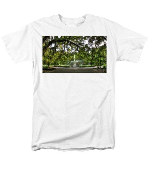 Forsyth Park Fountain Historic Savannah Georgia Men's T-Shirt  (Regular Fit) by Reid Callaway