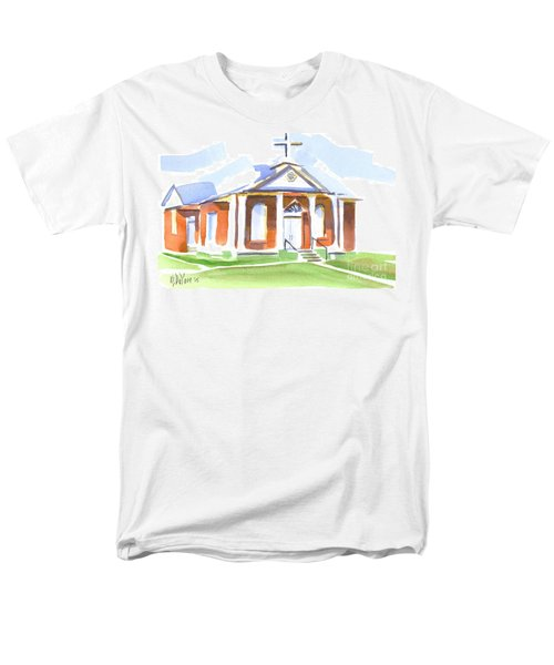 Fort Hill Methodist Church Men's T-Shirt  (Regular Fit) by Kip DeVore