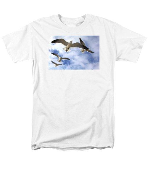 Four Gulls Men's T-Shirt  (Regular Fit) by Robert Och