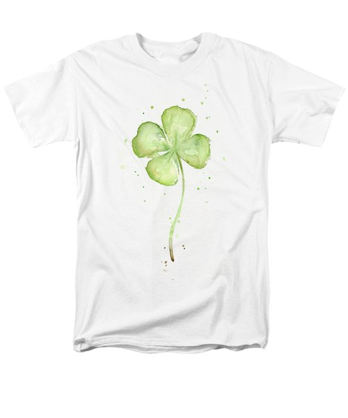 Four Leaf Clover Lucky Charm Men's T-Shirt  (Regular Fit) by Olga Shvartsur