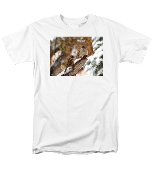 Men's T-Shirt  (Regular Fit) featuring the photograph Four Sparrows by Deborah Moen