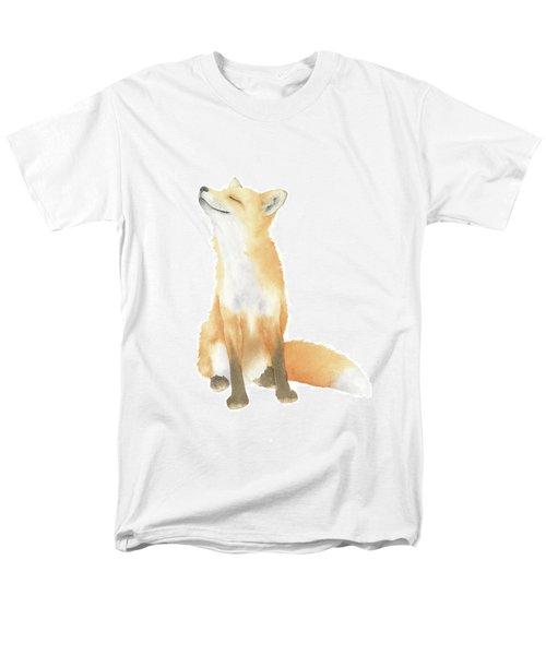 Men's T-Shirt  (Regular Fit) featuring the painting Fox Watercolor by Taylan Apukovska