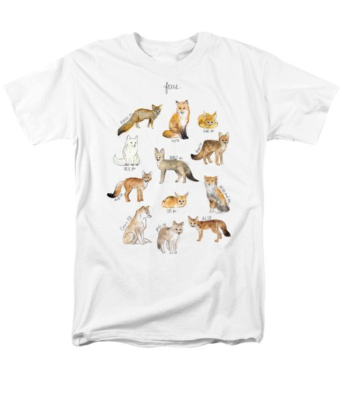 Foxes Men's T-Shirt  (Regular Fit) by Amy Hamilton
