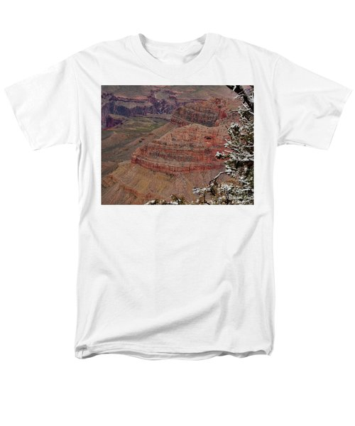 Men's T-Shirt  (Regular Fit) featuring the photograph Framed By A Snow Laden Tree by Debby Pueschel