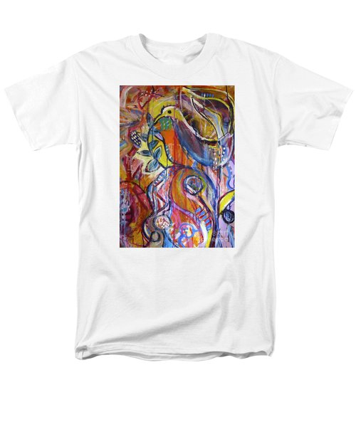 Free As A Bird  Men's T-Shirt  (Regular Fit) by Corina  Stupu Thomas