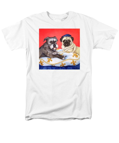Men's T-Shirt  (Regular Fit) featuring the painting French Friends by Laura Aceto