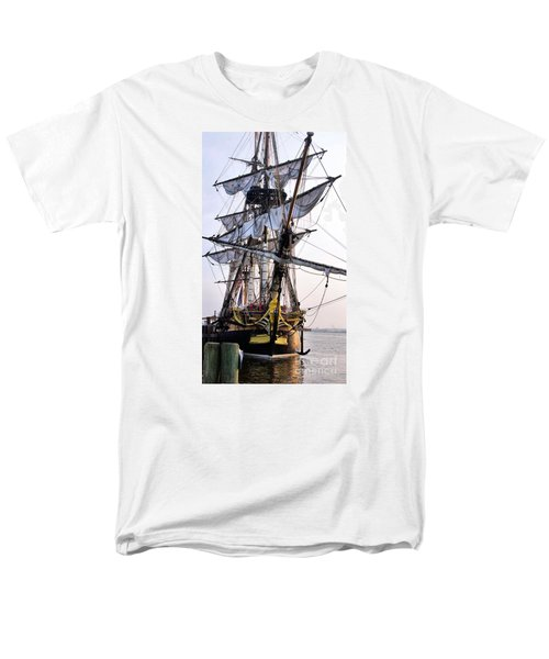 French Tall Ship Hermione  Men's T-Shirt  (Regular Fit) by John S