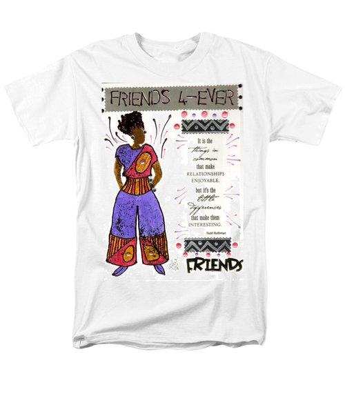Friends 4ever Men's T-Shirt  (Regular Fit) by Angela L Walker