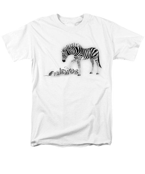 Men's T-Shirt  (Regular Fit) featuring the digital art Friends by Jutta Maria Pusl
