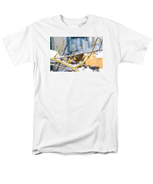 Men's T-Shirt  (Regular Fit) featuring the photograph Frosty Branches by Deborah Smolinske