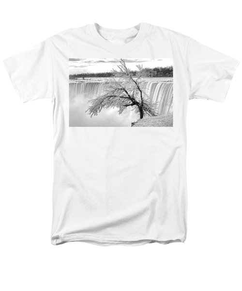 Frozen Tree Near Niagara Falls Men's T-Shirt  (Regular Fit) by Alex Galkin