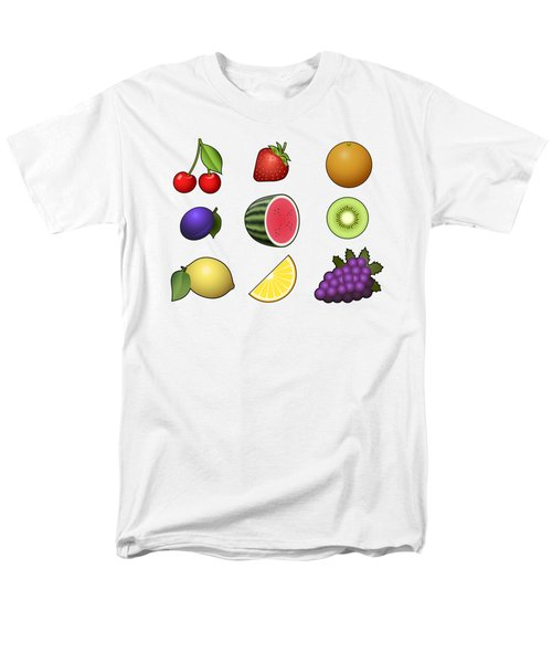 Fruits Collection Men's T-Shirt  (Regular Fit) by Miroslav Nemecek