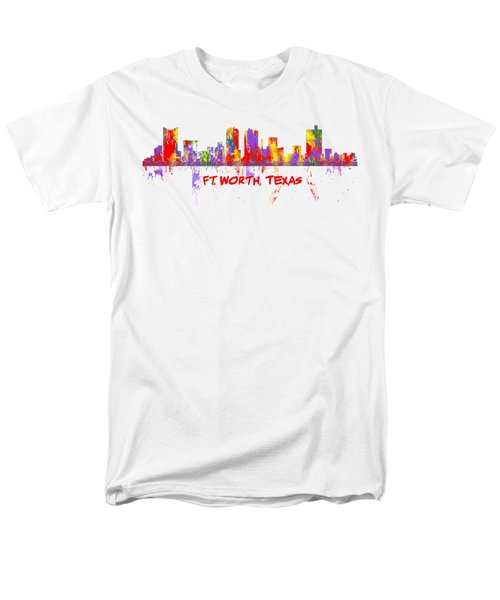 Ft Worth Tx Skyline Tshirts And Accessories Art Men's T-Shirt  (Regular Fit) by Loretta Luglio