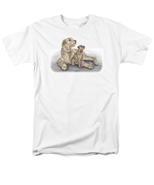 Full Of Promise - Irish Wolfhound Dog Print Color Tinted Men's T-Shirt  (Regular Fit) by Kelli Swan