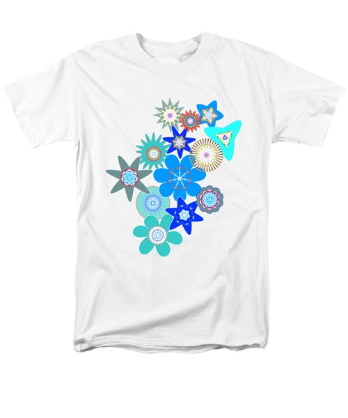 Funky Flower Pattern Men's T-Shirt  (Regular Fit) by Methune Hively