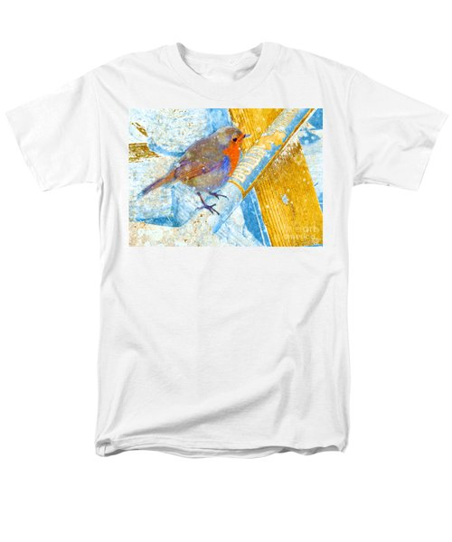 Garden Robin Men's T-Shirt  (Regular Fit) by LemonArt Photography
