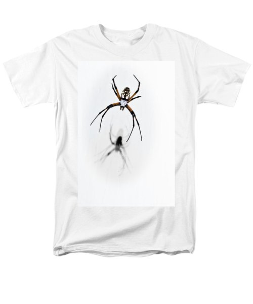 Men's T-Shirt  (Regular Fit) featuring the photograph Garden Spider With Shadow by Tamyra Ayles
