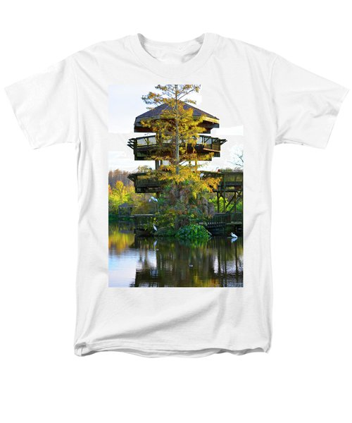 Gator Tower Men's T-Shirt  (Regular Fit) by Josy Cue