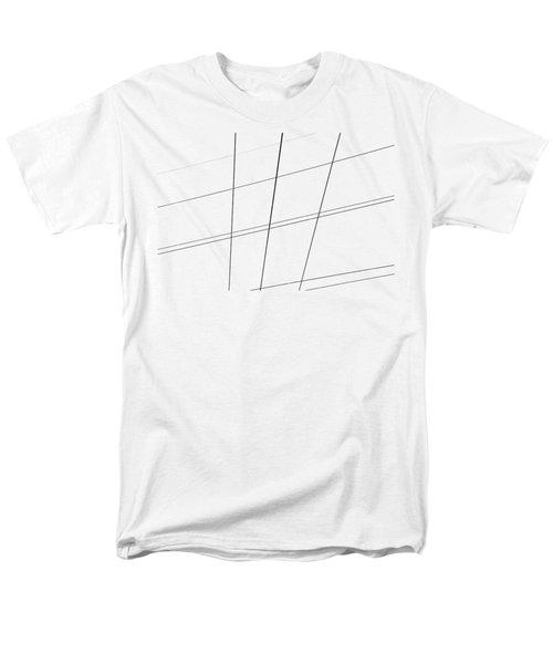 Geometric Lines Men's T-Shirt  (Regular Fit) by Debbie Oppermann
