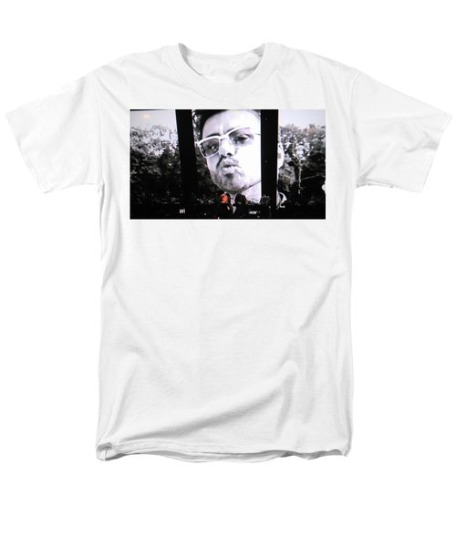 Men's T-Shirt  (Regular Fit) featuring the photograph George Michael Sends A Kiss by Toni Hopper