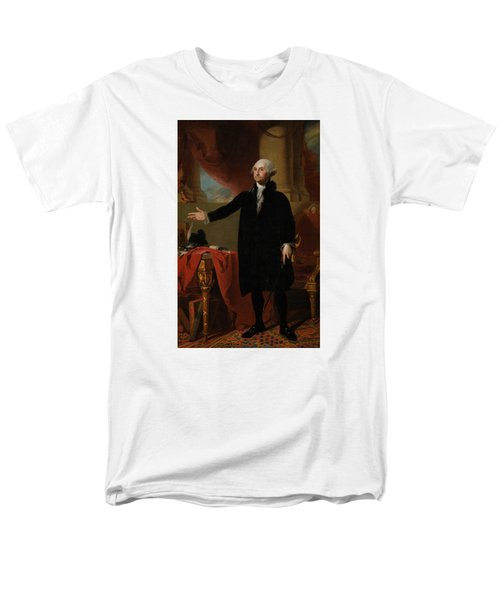 George Washington Lansdowne Portrait Men's T-Shirt  (Regular Fit) by War Is Hell Store