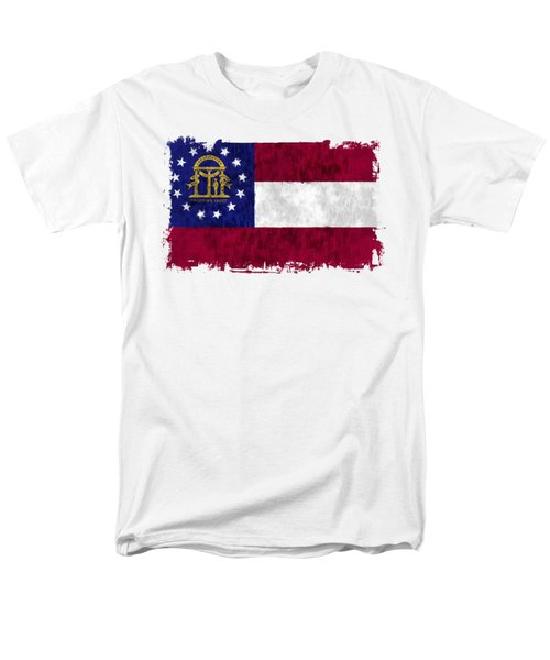 Georgia Flag Men's T-Shirt  (Regular Fit) by World Art Prints And Designs