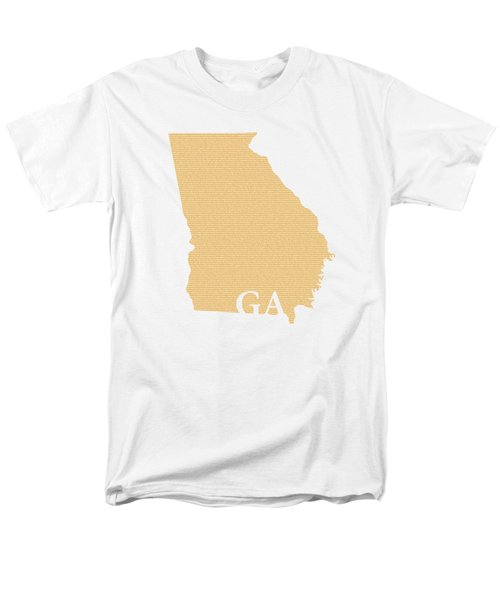 Georgia State Map With Text Of Constitution Men's T-Shirt  (Regular Fit) by Design Turnpike
