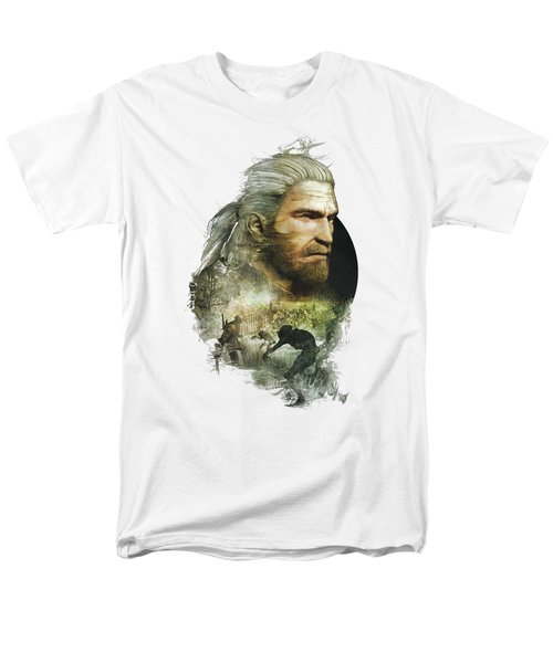 Geralt Of Rivia - The Witcher Men's T-Shirt  (Regular Fit) by Lobito Caulimon