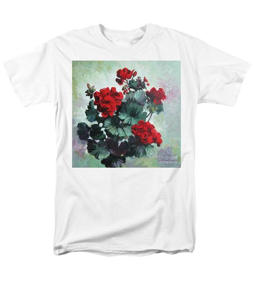 Men's T-Shirt  (Regular Fit) featuring the painting Geranium by Elena Oleniuc